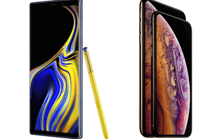 Galaxy Note 9 iPhone XS Max 1