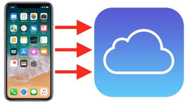 Icloud também pode ser utilizado para fazer o backup