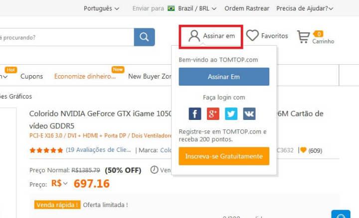 Placa de vídeo NVIDIA GeForce GTX 1050Ti tem 50% de desconto na TomTop