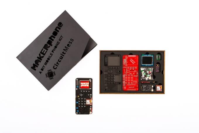 Imagem ilustrativa do projeto da kickstarter chamado makerphone, que consiste em entregar um celular para o cliente montar