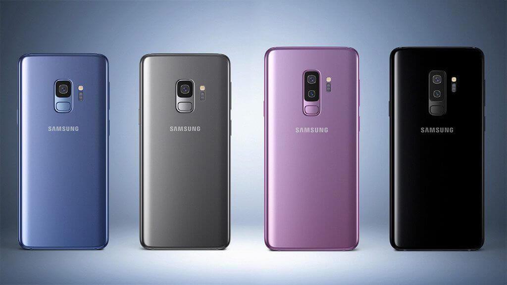 Foto que ilustra os quatro modelos do Galaxy S9, prestes a rebecer o Android 9 Pie
