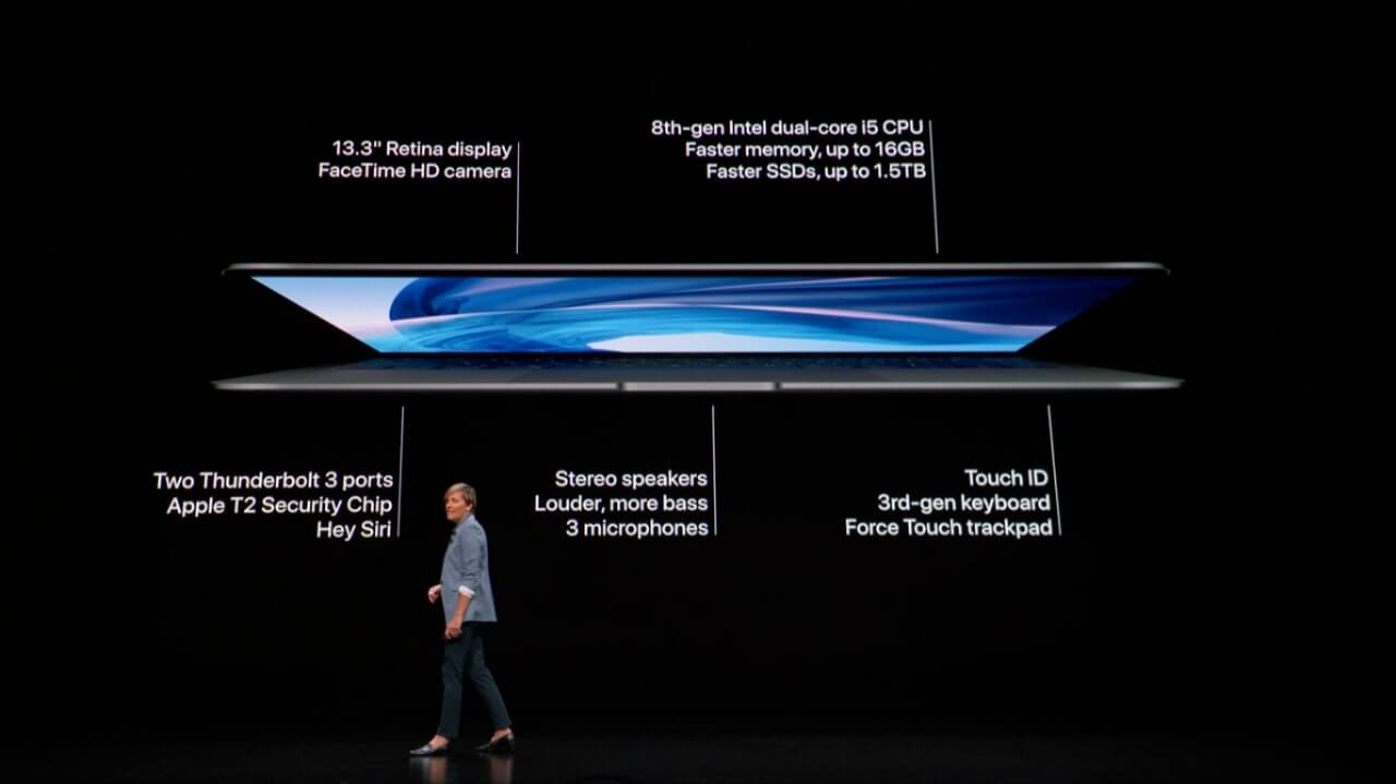 Novo macbook air anunciado no evento da apple de 30 de outubro