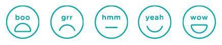 Materate: o usuário pode classificar o filme com diferentes reações
