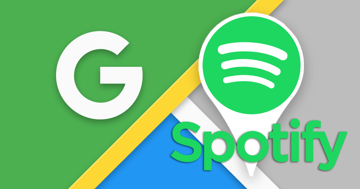 Google maps spotify