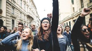 Politically correct millennials protesting 1440x961