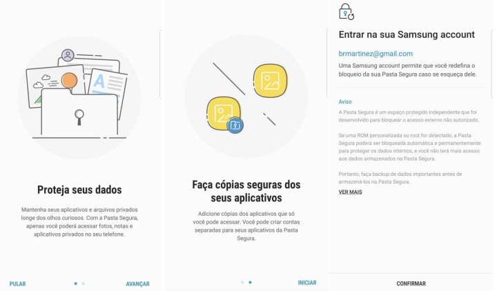 Tutorial: como usar a Pasta Segura para duplicar apps e salvar arquivos