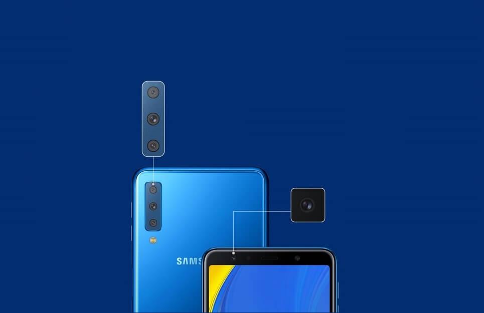 Samsung lança Galaxy A7 com câmera tripla e Galaxy Watch LTE no Brasil