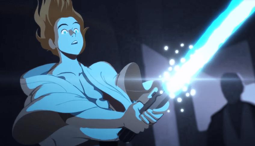 A jornada de luke skywalker foi adaptada para crianças em uma animação