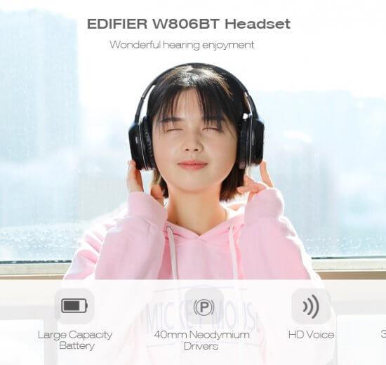 UTB8.9DOuOaMiuJk43PTq6ySmXXaA 550x520 - Fone de ouvido sem fio EDIFIER W806BT tem 56% de desconto na TomTop