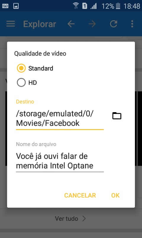 Como salvar vídeos do Facebook no celular