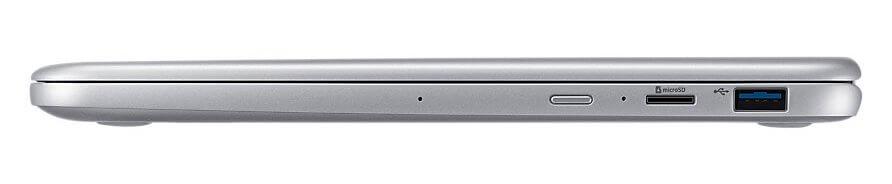 Uma porta usb 3. 1, leitor de cartões microsd, botão power e ainda dois microfones para captação pura do áudio