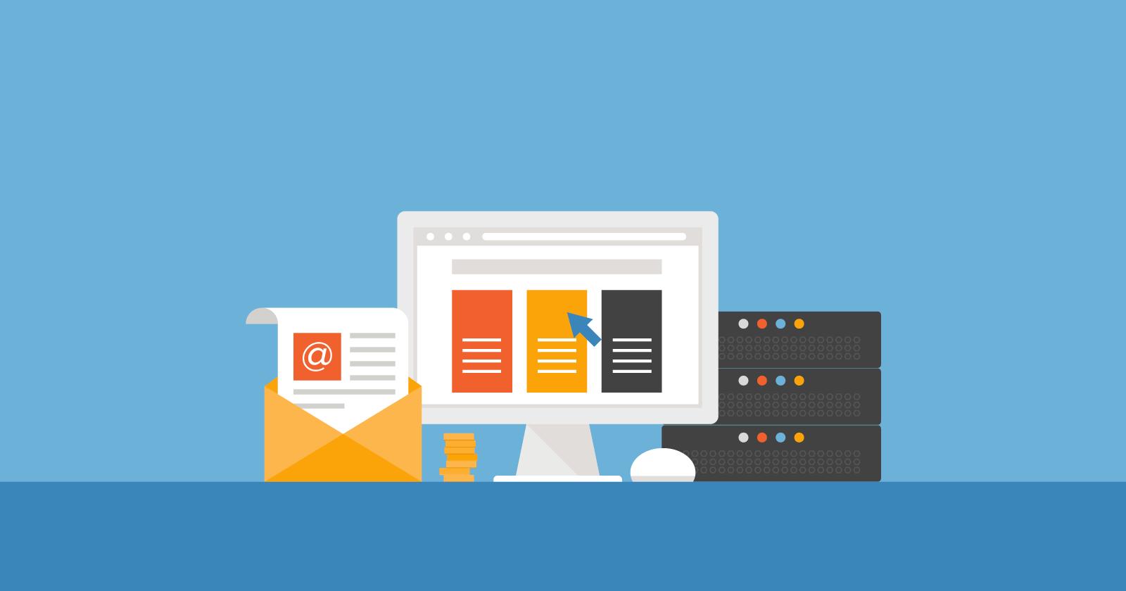 Foto que ilustra a hospedaem de um site em um servidor, o segundo passo para saber como criar um site