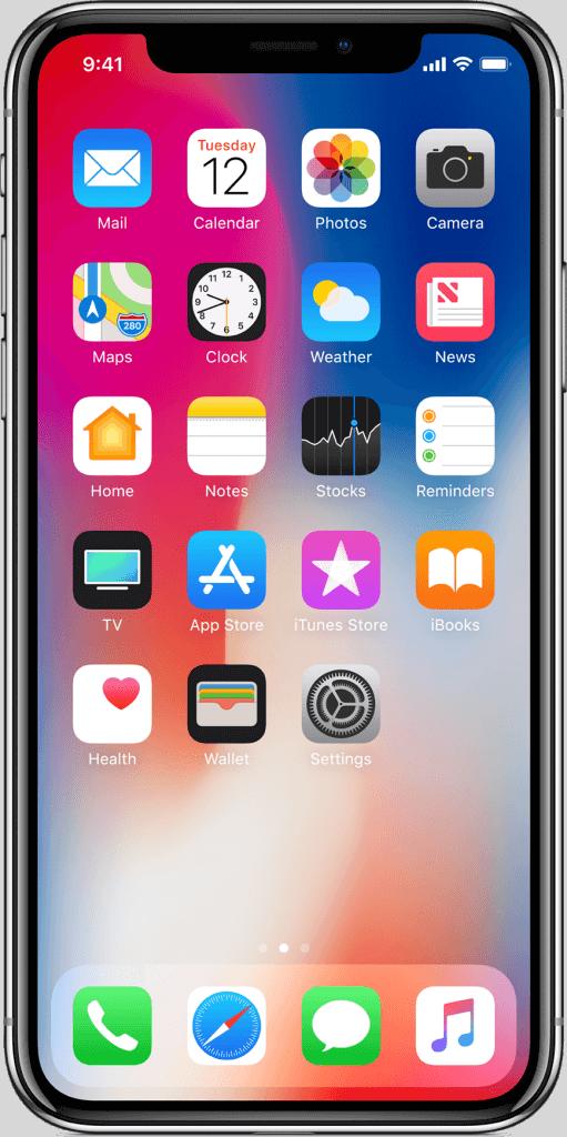 iphone X PNG Clipart 511x1024 - Como visualizar o percentual da bateria nos novos iPhone XS e XR