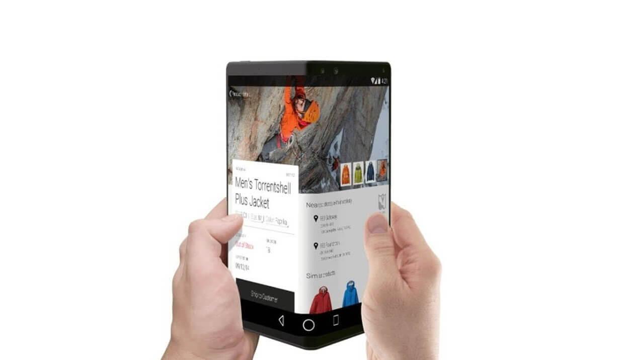 Possível conceito de smartphone dobrável que pode ser lançado pela LG