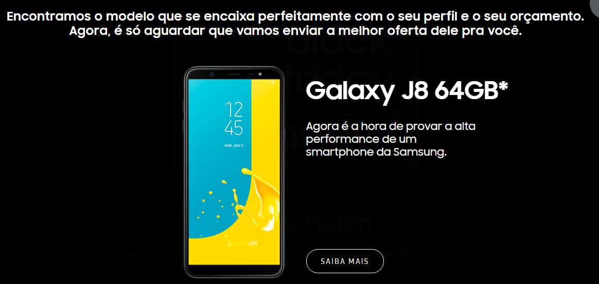 screenshot www.samsung.com .br 2018.11.13 14 33 08 - Galaxy Match: nova ferramenta da Samsung ajuda a escolher smartphone ideal