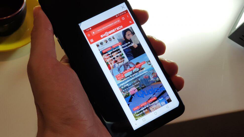 Como ativar a tela reduzida no LG G7 ThinQ