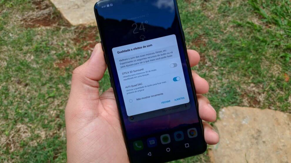 Como potencializar o som do LG G7 ThinQ