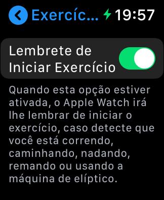 Apple watch series 4: dicas e truques - lembrete de iniciar exercício