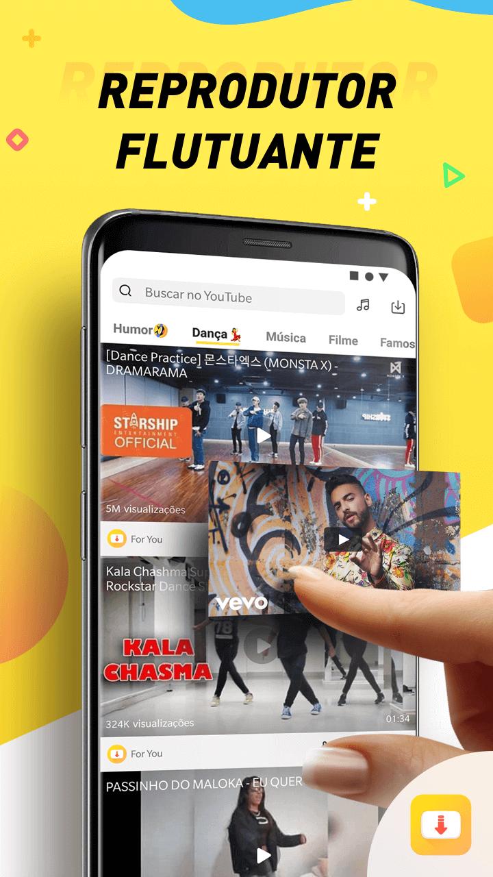 PT Floating player - Snaptube: descubra como fazer streaming de vídeos no Android