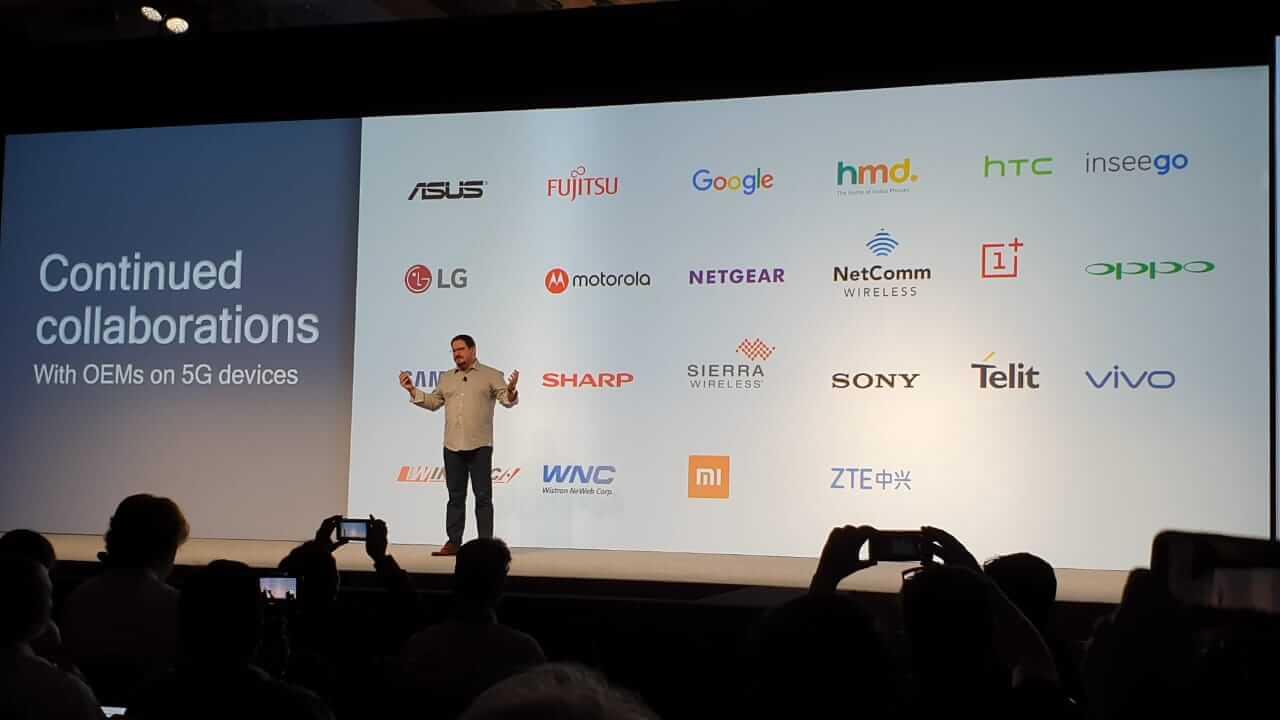 Foto ilustrativa da Qualcomm para mostrar parceiros que irão popularizar o 5G
