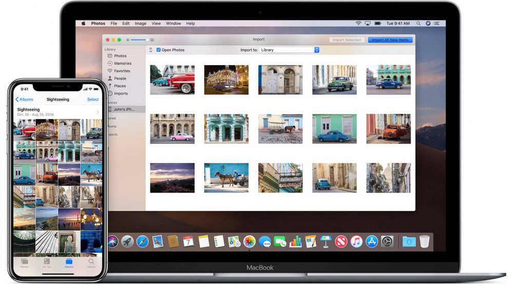 macos mojave ios12 macbook iphone x transfer photos hero
