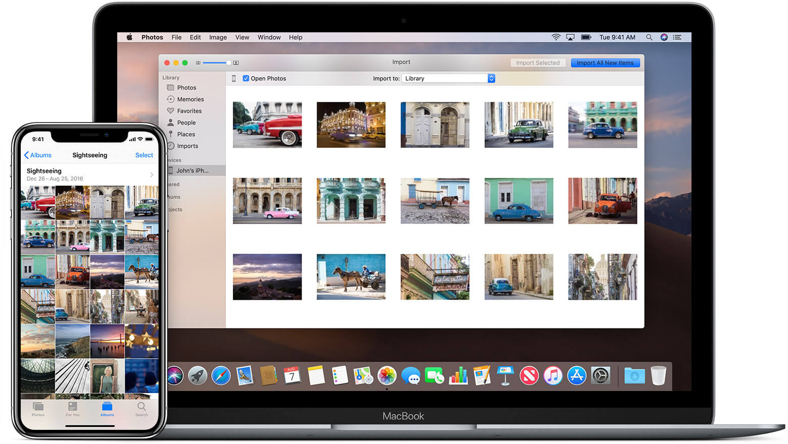 Macos mojave ios12 macbook iphone x transfer photos hero