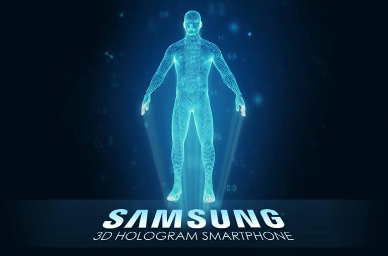 samsung 3d hologram smartphone 770x508 - Samsung preenche patente para tela capaz de projetar hologramas em 3D