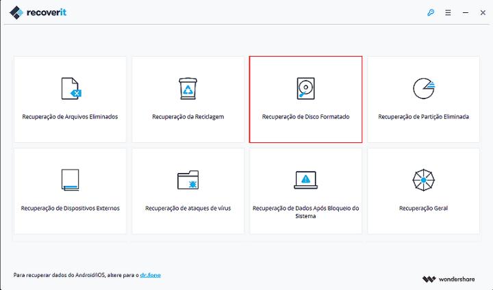 select formatted disk recovery 720x424 - Saiba como recuperar arquivos deletados de seu computador com o Recoverit