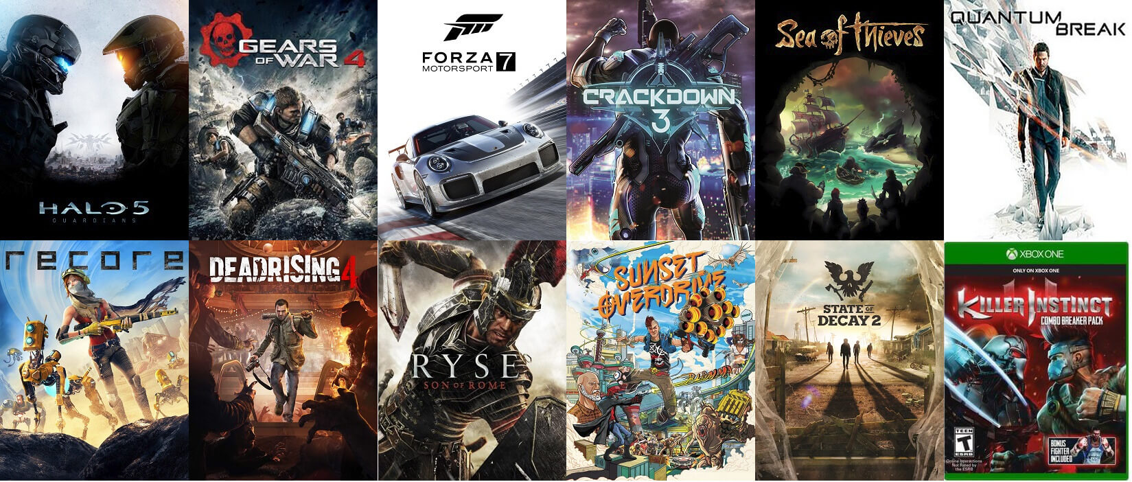 Vários jogos exclusivos do Xbox, estes que devem ser os primeiros que devem a chegar ao Xbox Scarlett