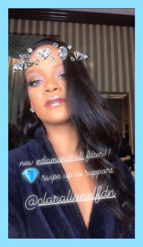 O filtro Diamonds aplica uma coroa de diamantes nas suas selfies