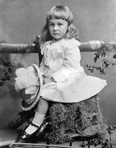 Fotografia do pequeno Franklin de 2 anos e meio em 1884