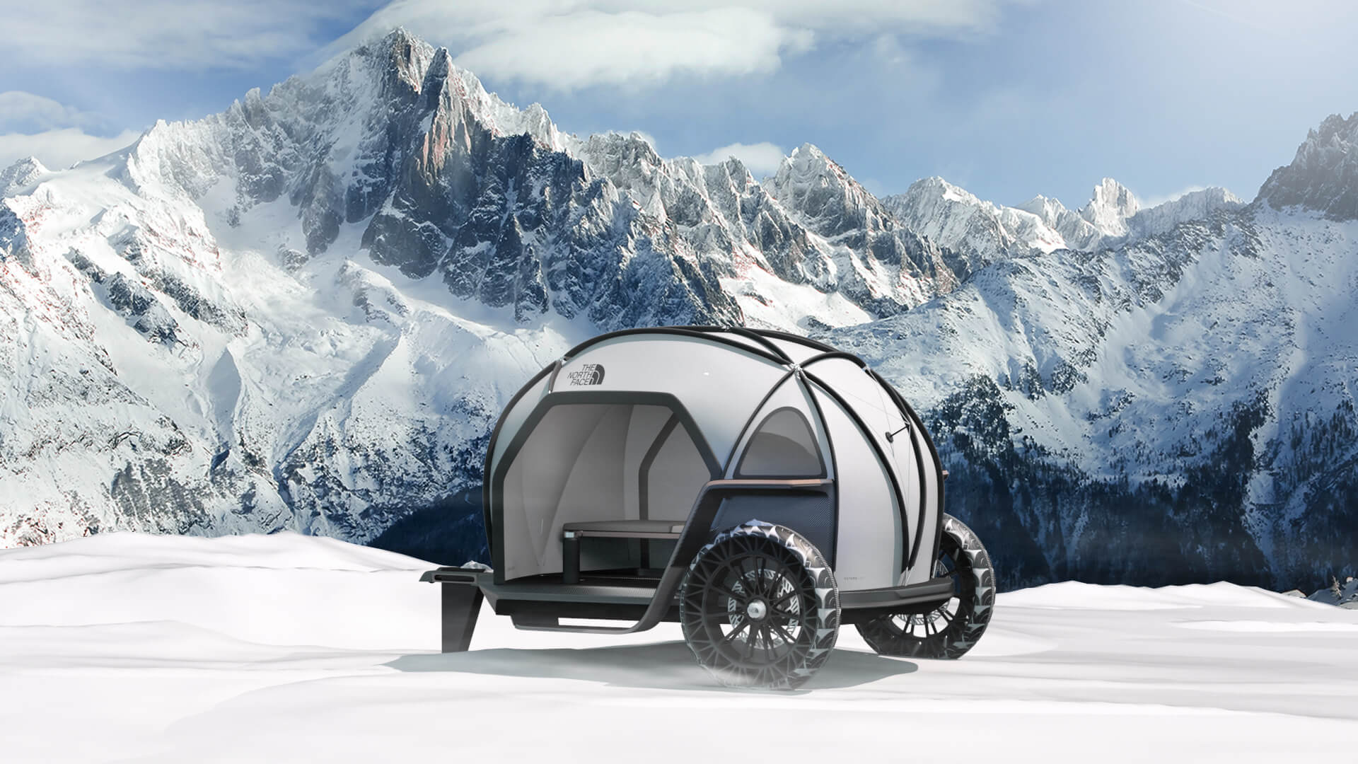 futurelight - CES 2019: The North Face e BMW apresentam barraca de camping futurista