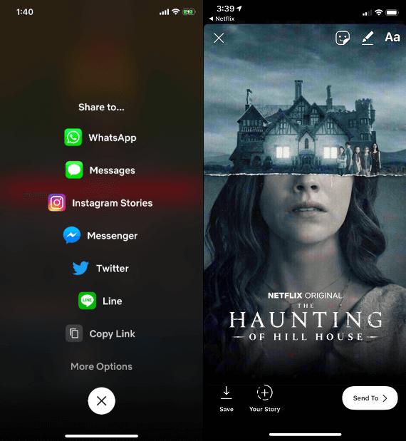 Netflix adiciona opção de compartilhamento com o instagram stories
