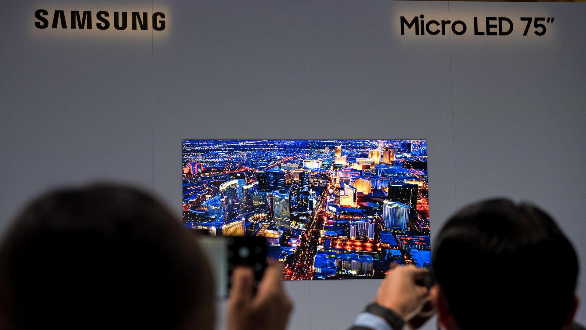 Samsungs micro led technik schaerfere tv geraete in aussicht