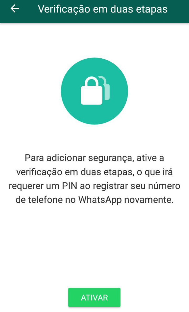 Para evitar um whatsapp clonado, faça a verificação em dois passos