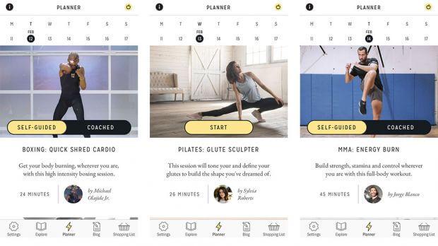 Centr, aplicativo fitness para IOS