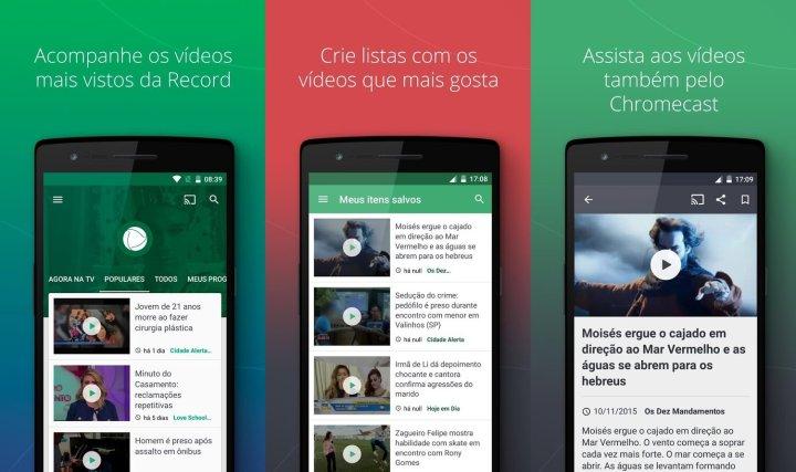 No app, você tem acesso à diversos vídeos da emissora, novelas e conteúdos