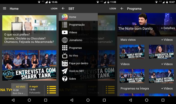 Globo, band, record, sbt: os apps das emissoras brasileiras para smartphone