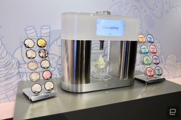 Com a LG SnowWhite é possível escolher o sabor de sorvete como em uma cafeteira expresso