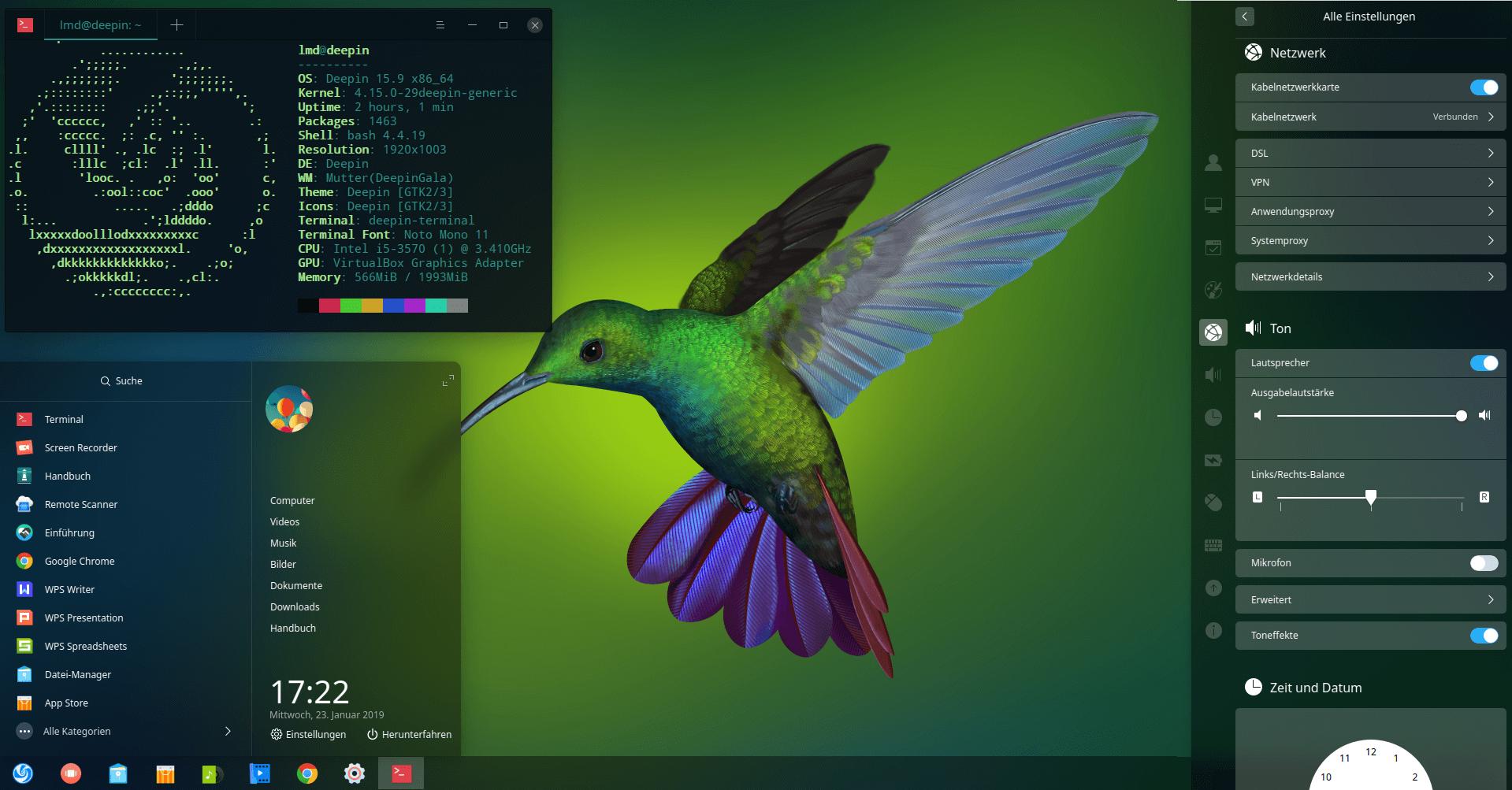 Linux deepin showmetech 14