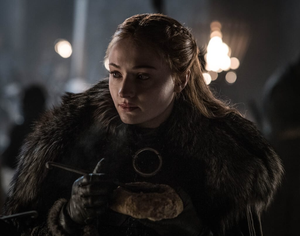 Sansa Stark (Sophie Turner) no segundo episódio da 8ª temporada de Game of Thrones