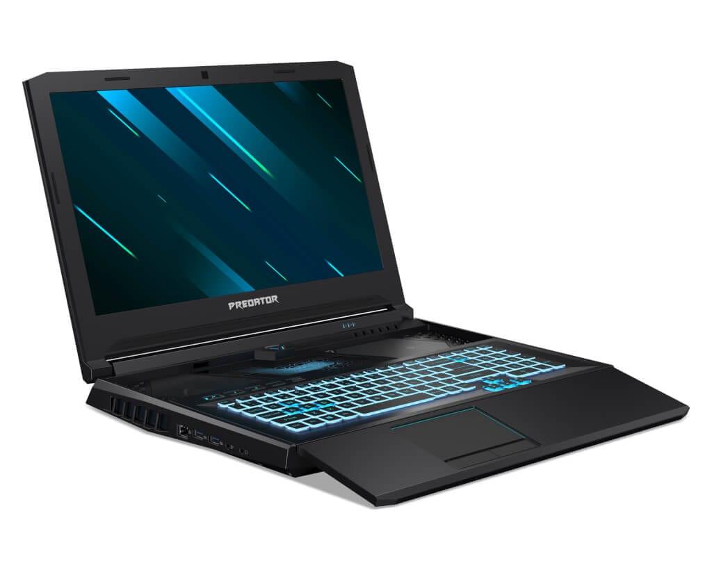 Notebook Acer Predator Helios 700 com teclado HyperDrift