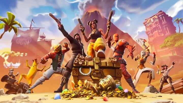 Fortnite tela inicial