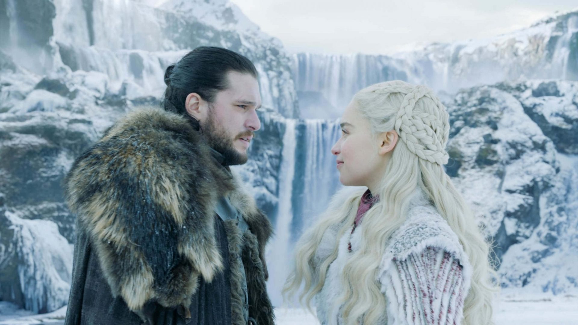 Jon snow e daenerys targaryen no primeiro ep. De game of thrones