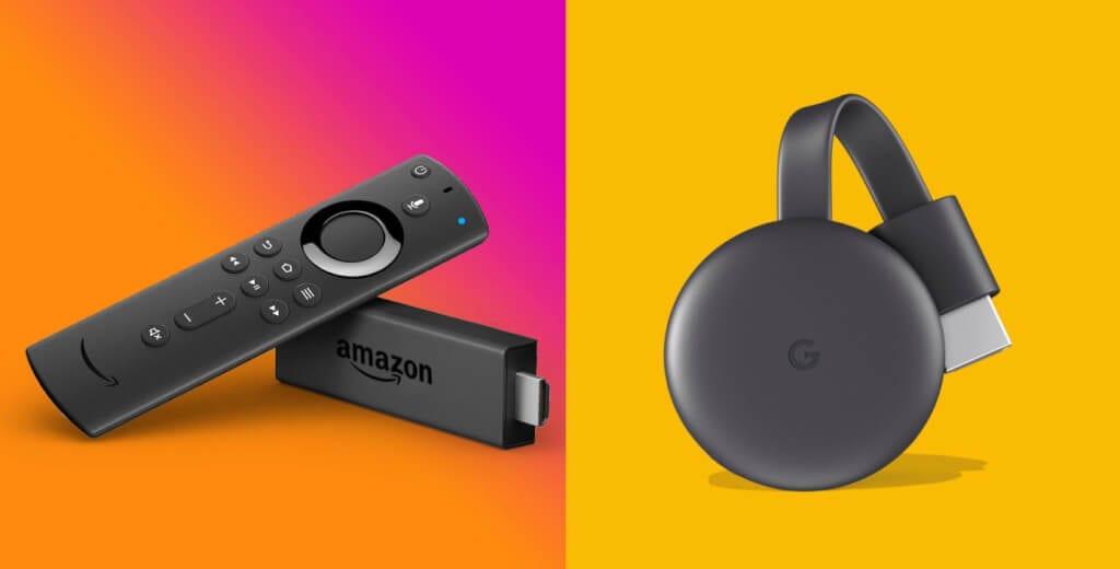 Amazon fire tv google chromecast