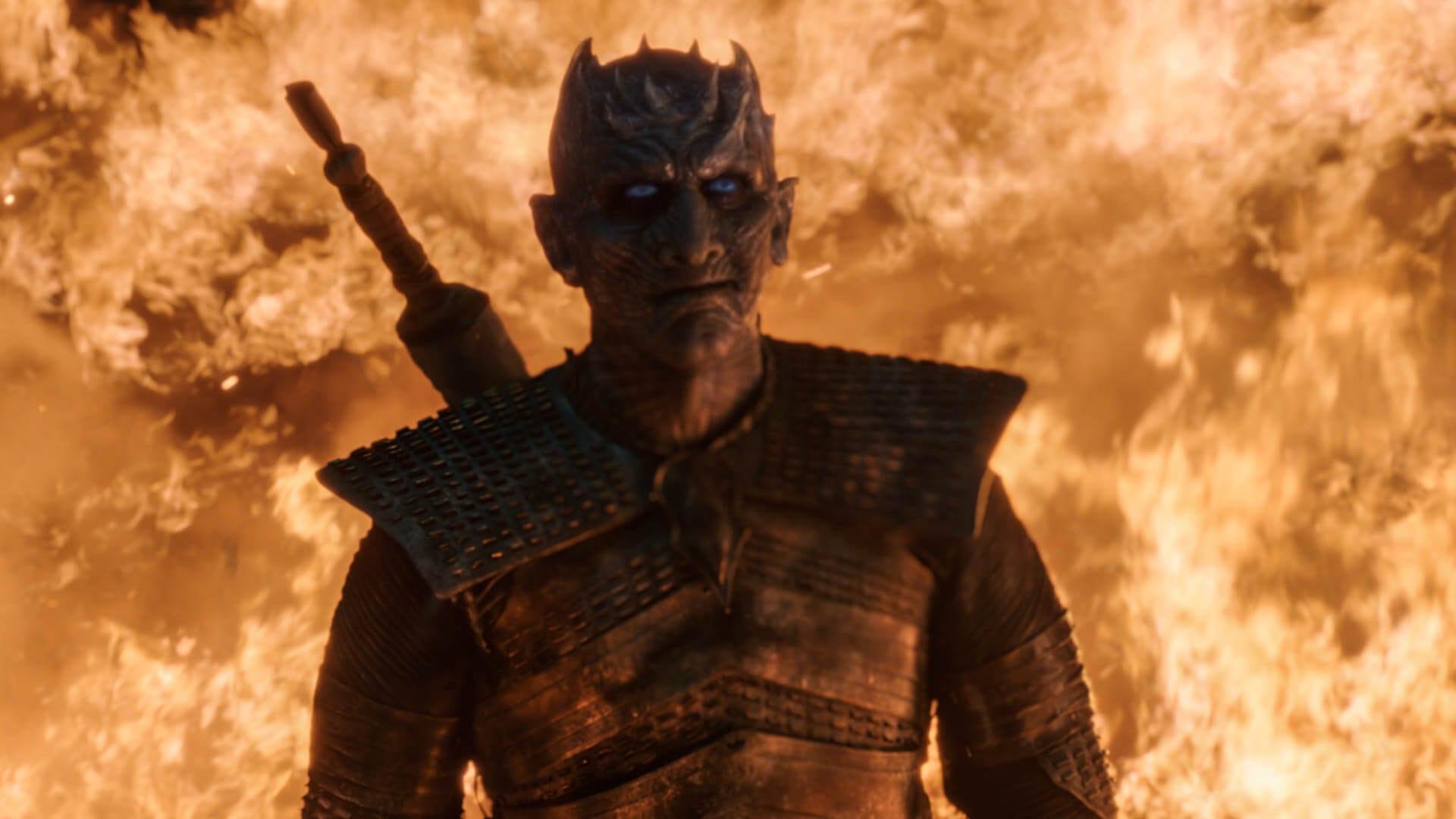 Rei da noite no terceiro episódio da oitava temporada de game of thrones.