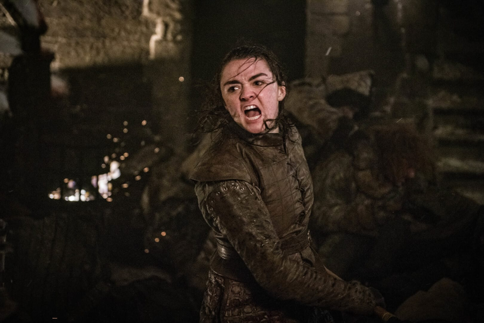 Arya Stark no terceiro episódio da oitava temporada de Game of Thrones.