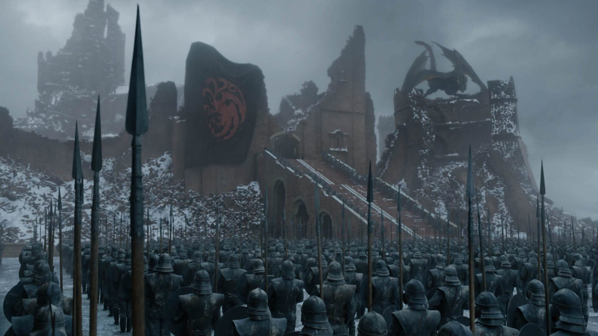 Porto real após a batalha entre cersei e daenerys.