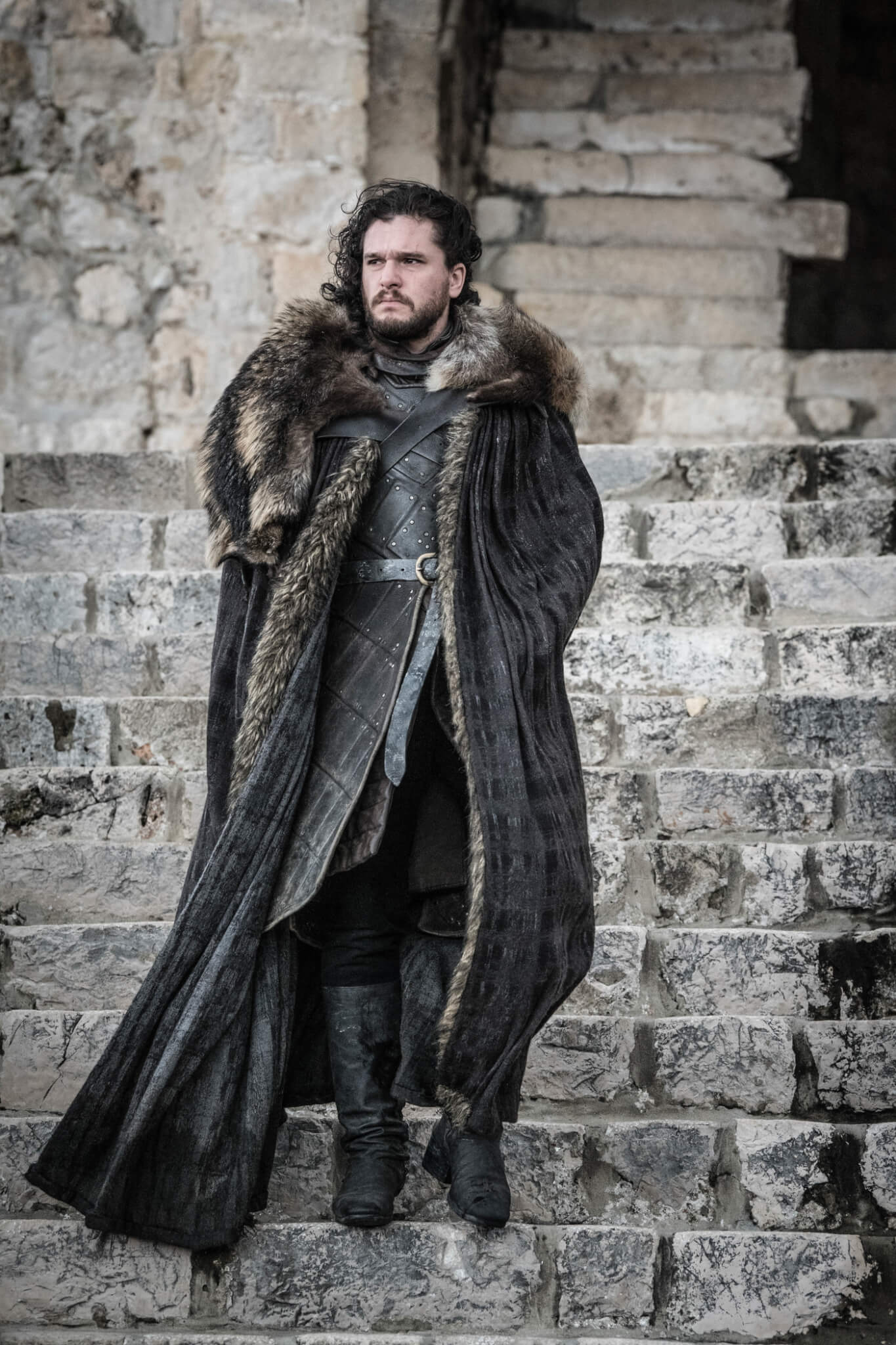 Jon Snow no último episódio de Game of Thrones.