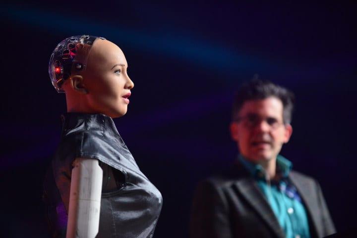 Robô Sofia, que ficou famosa no mundo na edição 2018 do evento